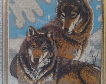"Painting"" Pair Of Wolves. Картина "" Пара Волков"""