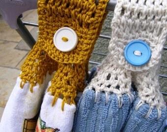 Crocheted Top DishTowels