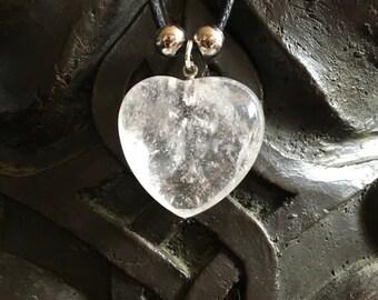 Quartz heart pendant
