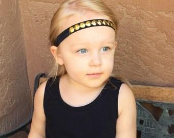 Gold Bling Headband, Baby Headband, Toddler Headband, Child Headband, Adult Headband