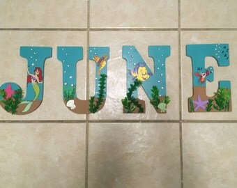Little Mermaid Themed Nursery Letters