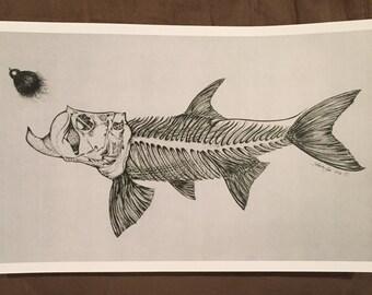 Tarpon Drawing Print