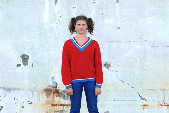 Red 70s sweater