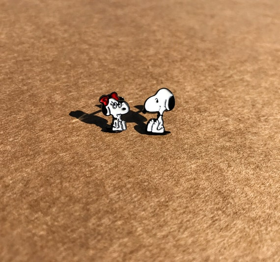 Snoopy Earrings, Snoopy Studs, Charlie Brown Earrings, Charlie Brown Studs, Peanuts Earrings, Peanuts Studs