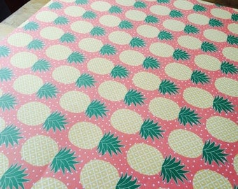 Pineapple tropical print wrapping / craft paper sheets