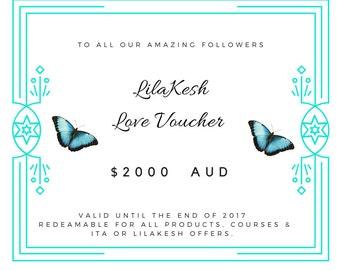 LilaKesh Love Voucher 2000 (15% off) for only 1700