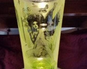 Green Fairy Glass