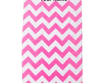 Chevron Velour Beach Towel custom with your name or saying; makes a great gift