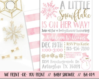 winter baby shower | etsy, Baby shower invitations