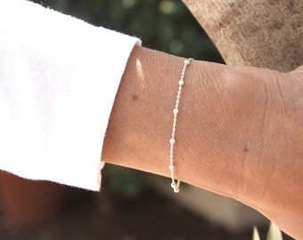 bracelet in Sterling Silver satellite channel