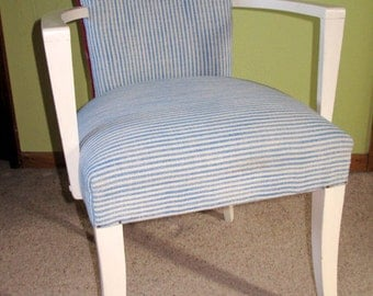Reupholstered Pair of Small Bedroom or Occasional Chairs