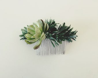 Pacifico Hair Comb | Succulent So Cal Beach & Desert Inspired Headpiece | Boho Bride Flower Crown | Southwestern Greenery