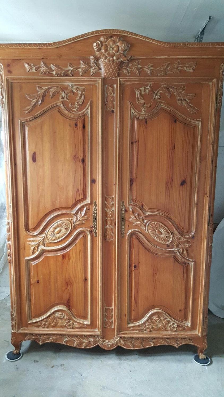 Beautiful vintage wardrobe armoire very large wardrobe dresser