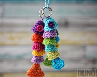 FISH KEYCHAIN Crochet Pattern PDF - Crochet fish pattern Crochet keychain pattern Sea creatures patterns Nautical toy patterns Fish pattern