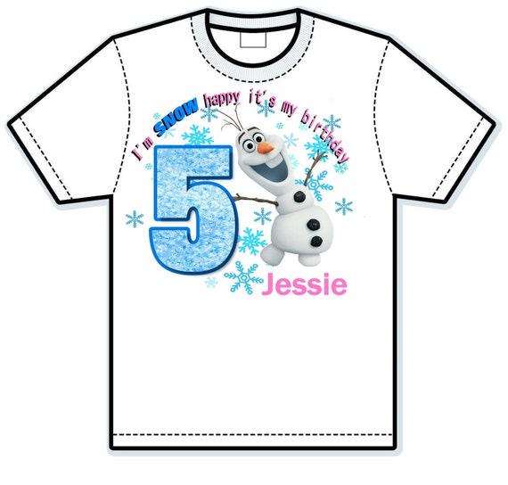 Disney Frozen Olaf Snow Happy Girl Children's hand painted Shirts