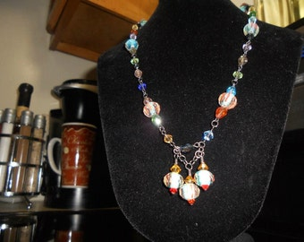 Another Favorite...Colorful Glass Bead Necklace. Will go with everything.