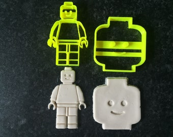 Lego Man Lego Head Uk Seller Plastic Biscuit Cookie Cutter Fondant Cake Decor