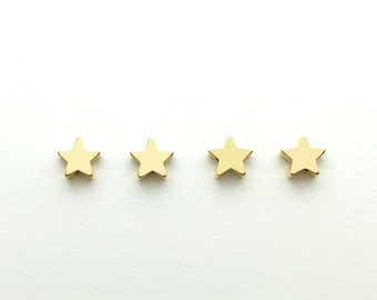 4 pcs Star Charm Jewelry Beading supplies, Craft Supplies Tools, Beads Celestial Beads STR1-G
