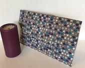 Ariana Evening Clutch Bag Handbag Heart Design Grey Bird Design Slip pocket Slim Handmade in UK