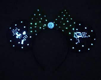 Glow in the dark Minnie Mouse Ears