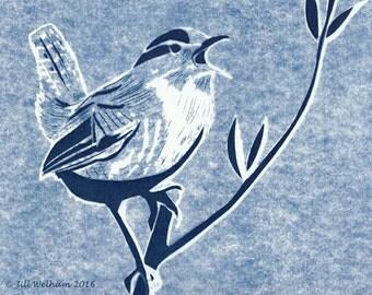 Jenny Wren Cyanotype