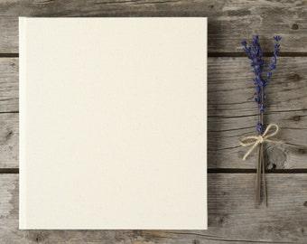 Wedding Guest Book. High Quality, Plain Blank DIY Guest Book. Ivory DIY Wedding Guest Book with Box.