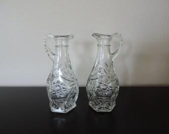 BOTTLE oil and vinegar, POT, Burette, GLASS size, spout