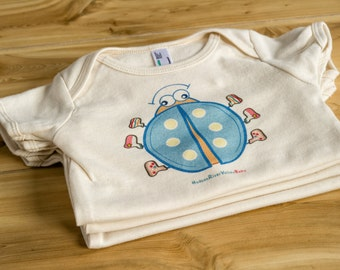 Fun Colorful Organic Baby Clothes - Gender Neutral--- Ladybug