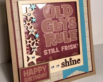 Birthday Card-Old Guys Rule
