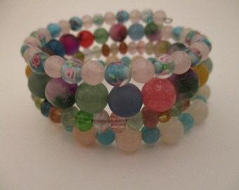 Memory Wire, Wrap Bracelet, Cuff Bracelet, Mothers Day Gift