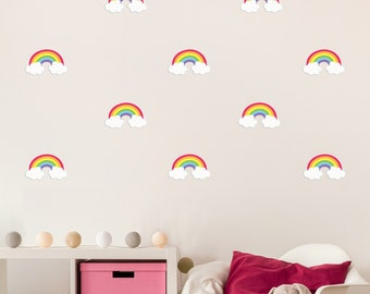 Mini Rainbow Wall Decals - Fabric & Reuseable
