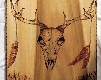 Deer Wood Burning Etsy