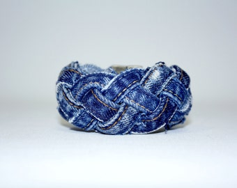 Jean Upcycled braided bracelet
