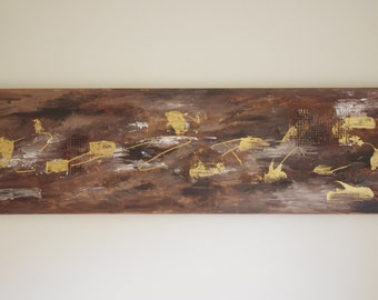 Hand Painted on Canvas Title ( Klondike ) by L.JA