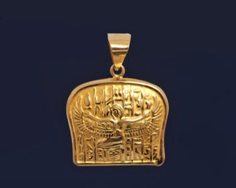 Elegant Isis Solid 18K Gold Pendant-Goddess Pendant-Goddess isis-Egyptian Jewelry-Best Gifts for Her-Goddess Jewelry is Gifts for Women 2017