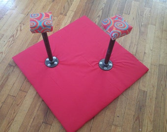 12 inch Red Design Handstand Canes