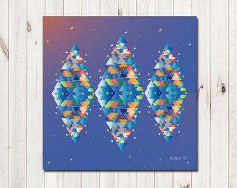 Diamond tree poster