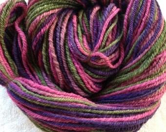 3 ply handspun Merino/Tussah silk