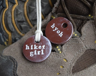 Hiker Girl or Hike Your Own Hike (hyoh) Pendant Necklace