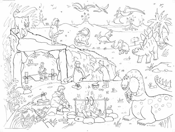 cave man coloring pages - photo#49