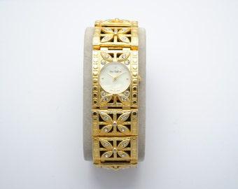 Yves Golden Laffond - flowers watch - watch rhinestone watch