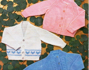 401abba90 Baby Knitting Pattern Leaf Design Cardigan Sweater Tank Top pdf from ...