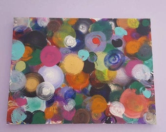 Circles* Unique Painting Acrylic on Canvas