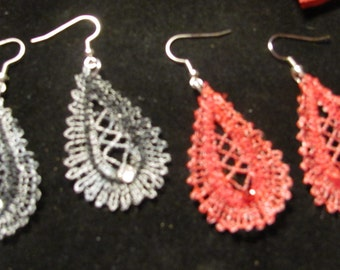 Linda Embroidered Earrings