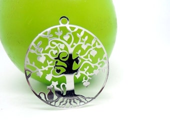 1 print tree of life and fine silver filigree metal cats