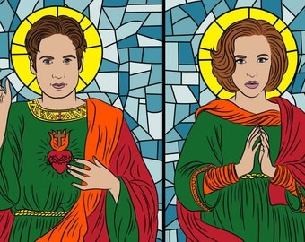 MULDER & SCULLY Set of prayer candles, Mulder and Scully, Mulder it's me, X Files,  the truth is out there, XFiles gift, I want to believe