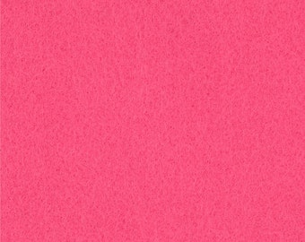 Shocking Pink Craft Felt Fabric - Kunin Felt - Pink Crafting Felt