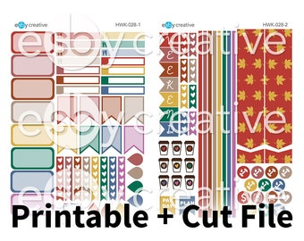 Fall Colours Mini Kit - Weekly Sticker Kit Printable for Erin Condren Horizontal - HWK-028 - INSTANT DOWNLOAD