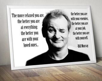 Bill Murray Inspirational Poster