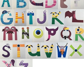 Personalized Monster Alphabet Garland